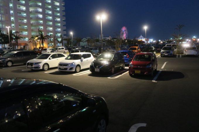 北谷・フィッシャリーナ地区にある「ラ・ジェント・ホテル沖縄北谷」の駐車場(その2)