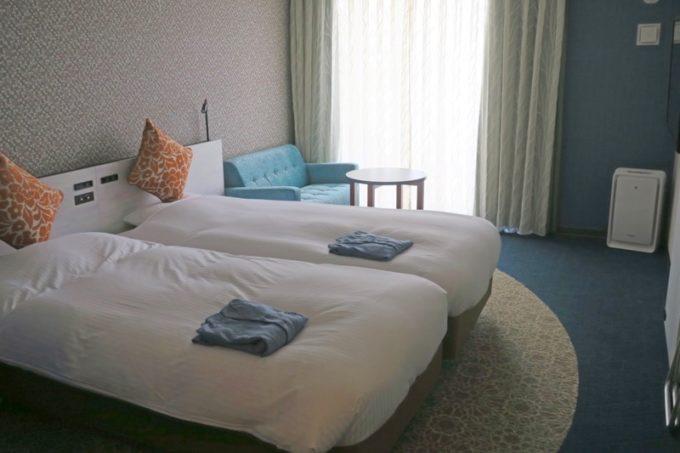 「ラ・ジェント・ホテル沖縄北谷」コンフォートツインの客室。