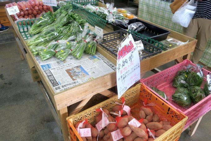 沖縄市「泡瀬漁港 パヤオ直売店」では野菜も販売している。