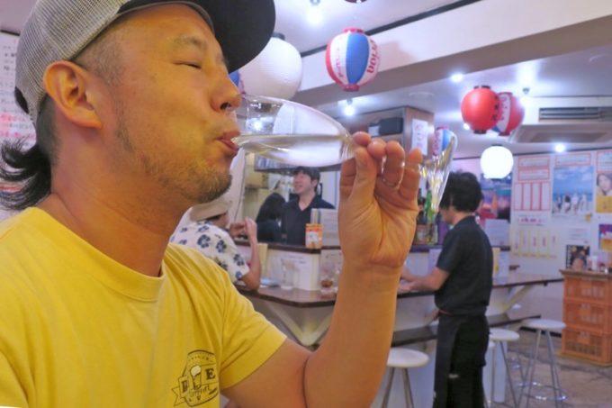 那覇・松尾「らう次郎」のせんべろには、時々獺祭があるらしい。