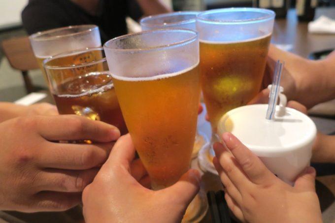那覇・松川「喰い呑み処 さとう」のビールはオリオンビールの中瓶(500円)