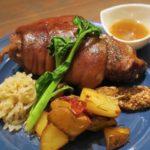 那覇・サンライズなは商店街「Taste of Okinawa(テイスト オブ オキナワ)」コース料理のアイスバイン。