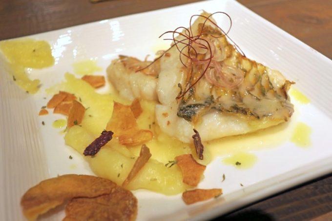 那覇・サンライズなは商店街「Taste of Okinawa(テイスト オブ オキナワ)」アオブダイのソテー(980円)