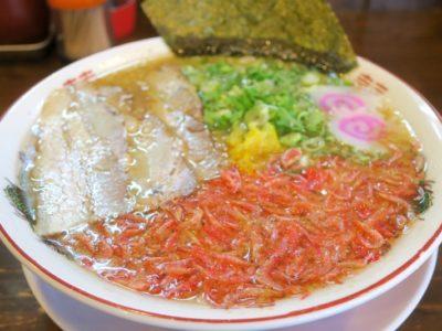 浦添・宮城「麺や 和楽」の潮騒(並、700円)