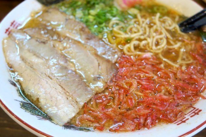 浦添・宮城「麺や 和楽」のトッピングが目に鮮やかで一目惚れ。