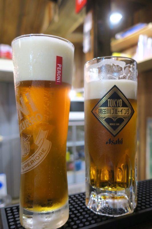 那覇・牧志「恵比寿珈琲麦酒」で隅田川ブルーイングのペールエール(500円)を飲んだ。