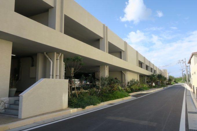 「ハイアットリージェンシー瀬良垣アイランド沖縄」の駐車場。