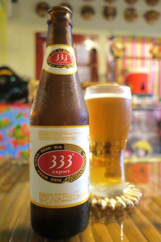那覇・松尾のベトナム料理「ノイカフェ」で飲んだビールは333(バーバーバー、600円)