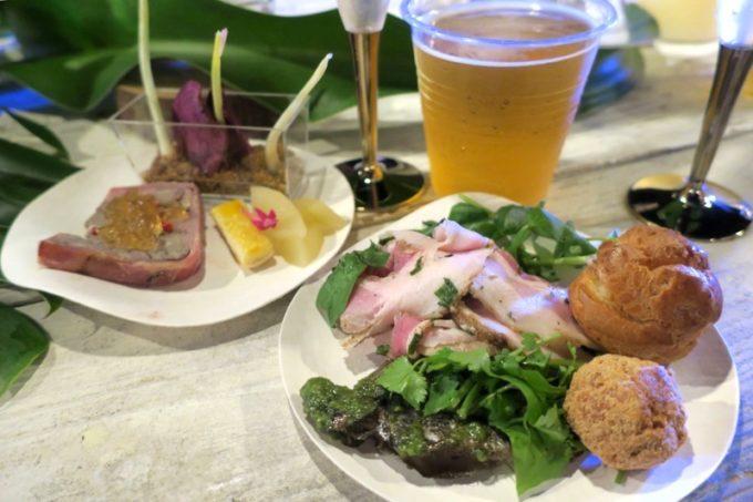 伊江島「ビーチグランピングBBQ」で取り分けてきたお料理(その1)