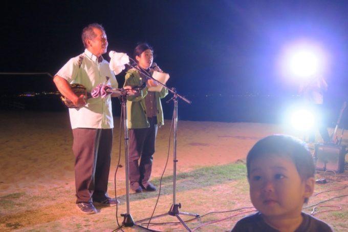 伊江島「ビーチグランピングBBQ」おもてなしのライブ演奏(その3)