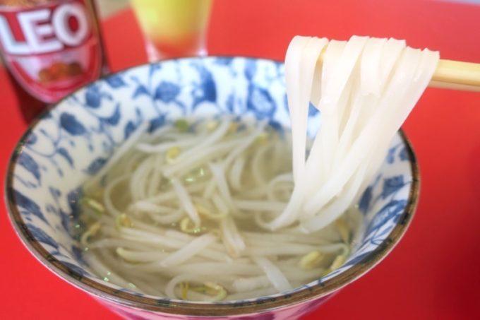 沖縄市「タイフードクラブ バカラ(Thai Food Club Baccara)」ランビブッフェで食べたフォー。