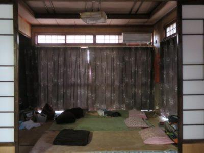 伊江島で民泊(玉城加津美さん宅)で貸し出してもらった和室。