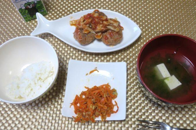 伊江島で民泊(玉城加津美さん宅)でいただいた卵アレルギーのこども向け朝食。