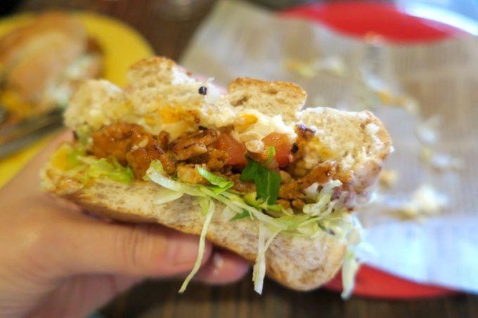 北谷・アメリカンビレッジ「タコロコ(TACO LOCO)」トルタがウマくてお気に入り。お肉はポークにした。