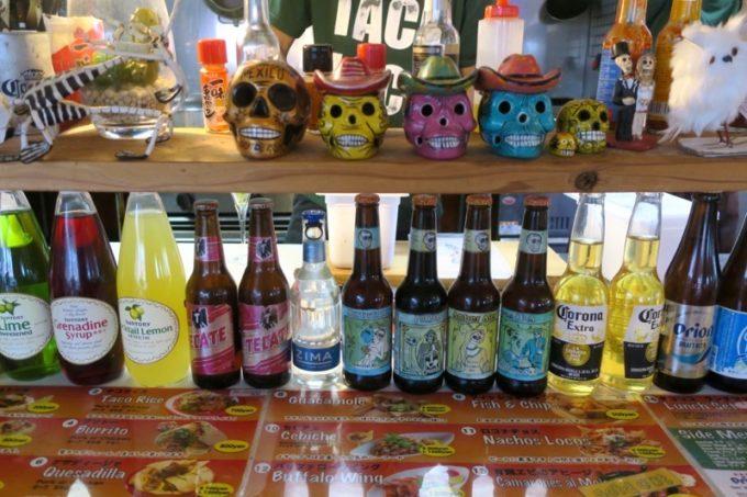 北谷・アメリカンビレッジ「タコロコ(TACO LOCO)」メキシコのクラフトビール 、デイ・オブ・ザ・デッドも提供しているとのこと。