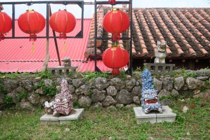 読谷「ホテルむら咲むら」のあちこちに飾られているランタン(その3)