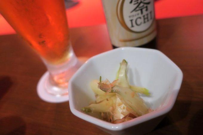 北谷・美浜「Okinawan music カラハーイ」島らっきょうの塩漬け(500円)