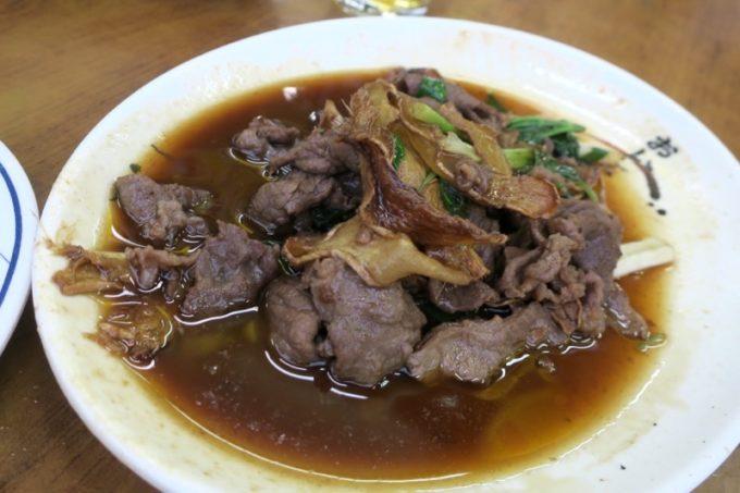 台湾・高雄「水源羊肉爐」の麻油羊肉(150元)