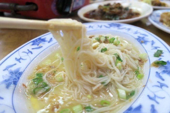 台湾・高雄「水源羊肉爐」で食べた福州麵線(TWD50)