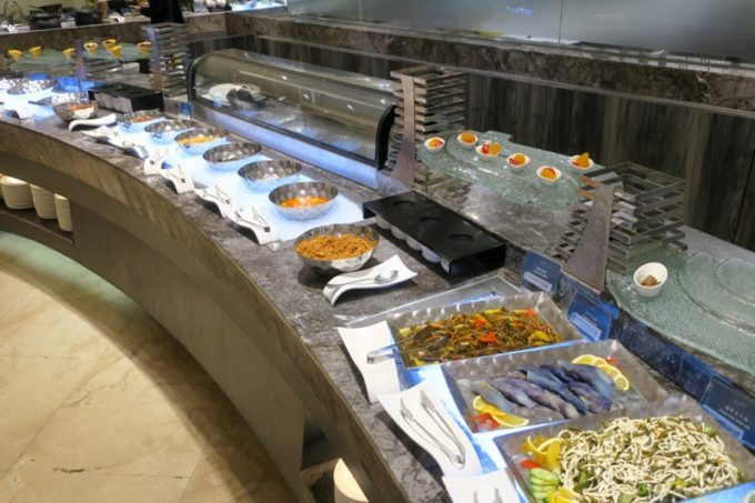 台湾・高雄「リーズホテル(麗尊酒店)」艾可柏菲(CERCLE)の朝食ビュッフェの中華料理コーナー