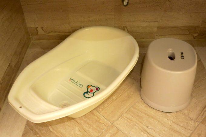 台湾・高雄「リーズホテル(麗尊酒店)」ベビーチェアと椅子の用意もしてもらっていた。
