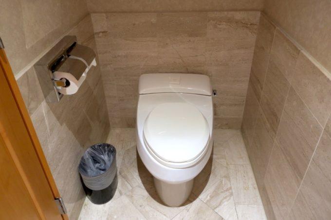 台湾・高雄「リーズホテル(麗尊酒店)」デラックスダブルルームの入り口付近にあった個室トイレ。