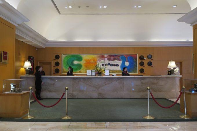 台湾・高雄「リーズホテル(麗尊酒店)」のフロント。