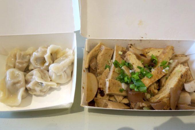 台湾・高雄「廈門麵食館」滷味と水餃子をテイクアウトした。