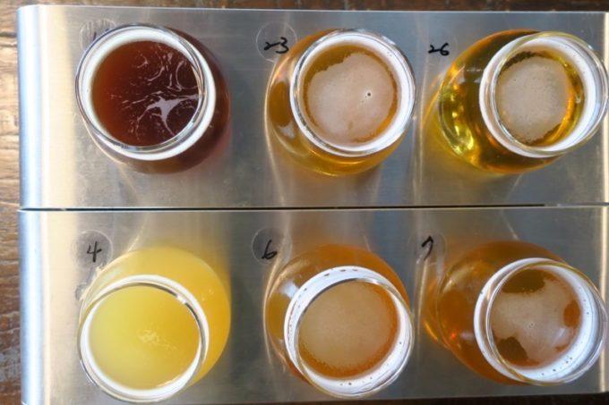 台湾・高雄「掌門精釀啤酒 棧貳庫店」でいただいたビール6種類。