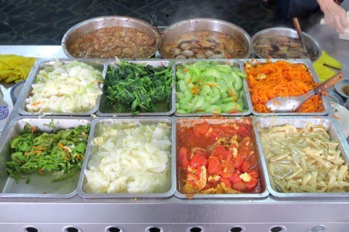 台湾・高雄「錦田肉燥飯」トッピングの野菜おかず。