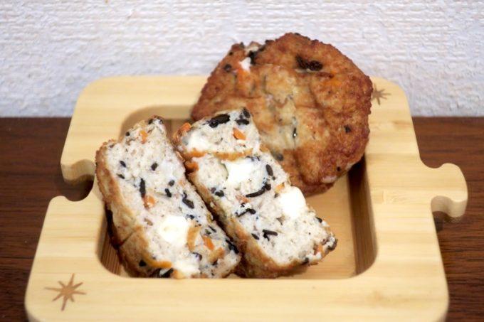 池田屋豆腐(池田食品)のチーズがんもは袋から出してすぐ食べられる。