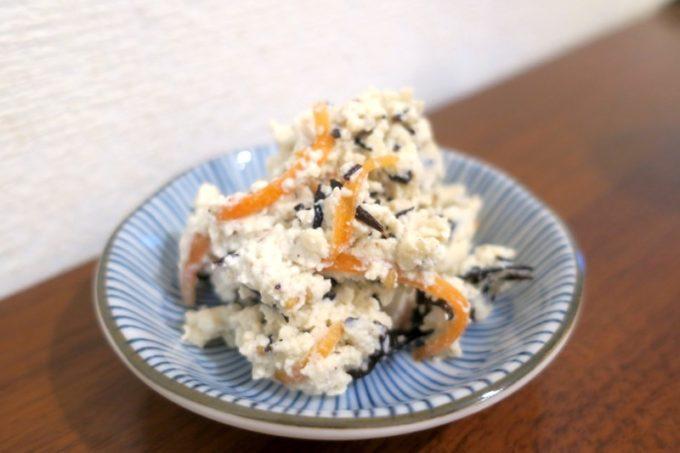池田屋豆腐(池田食品)の白和えもパックから出してすぐ食べられるお手軽さ。
