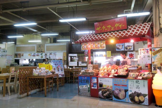 2019年6月16日で一時閉鎖する、那覇・牧志公設市場2階にある食堂の様子(えんとサーターアンダギー屋さん)