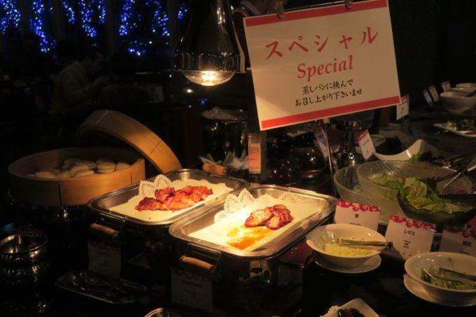 リザンシーパークホテル谷茶ベイ「飲茶&広東料理 マンダリンコート」のディナーバイキング(北京ダックコーナー)