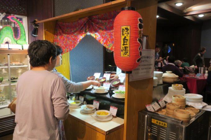 リザンシーパークホテル谷茶ベイ「飲茶&広東料理 マンダリンコート」のディナーバイキング(屋台ラーメンがあった)