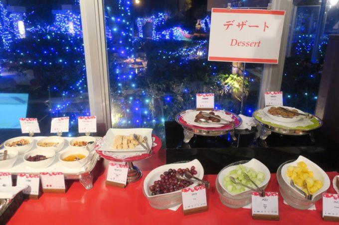 リザンシーパークホテル谷茶ベイ「飲茶&広東料理 マンダリンコート」のディナーバイキング(デザート類)
