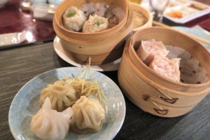 リザンシーパークホテル谷茶ベイ「飲茶&広東料理 マンダリンコート」のディナーバイキング(蒸し物天国)
