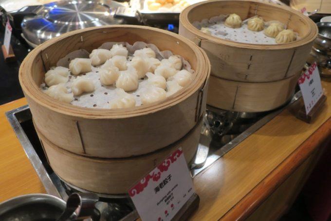 リザンシーパークホテル谷茶ベイ「飲茶&広東料理 マンダリンコート」のディナーバイキング(蒸し物)