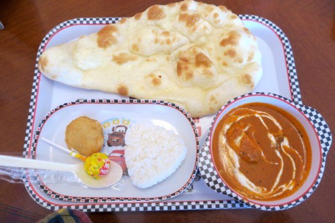 北谷・国体道路沿いのインド料理「タージオキナワ」のキッズランチ(600円)