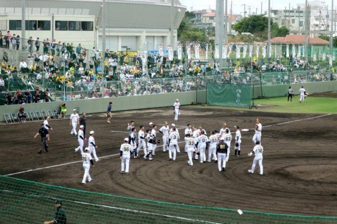 阪神タイガースの宜野座キャンプ(プロ野球春季キャンプ2019)の練習が終了した。