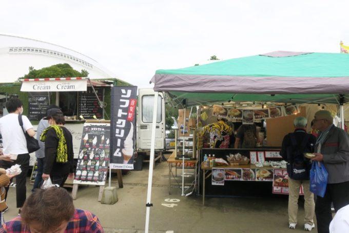 阪神タイガースの宜野座キャンプ(プロ野球春季キャンプ2019)の飲食ブース(ソフトクリームなど)