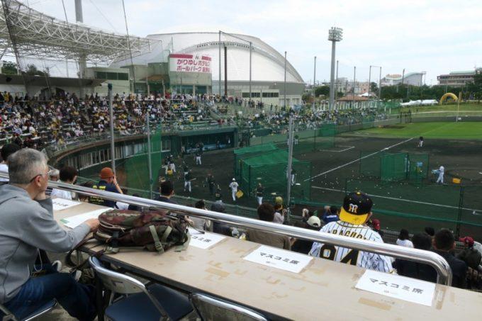 阪神タイガースの宜野座キャンプ(プロ野球春季キャンプ2019)にあったマスコミ席