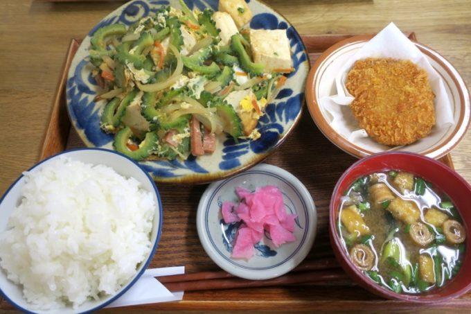 那覇・首里「ななほし食堂」ゴーヤーちゃんぷるー(630円)