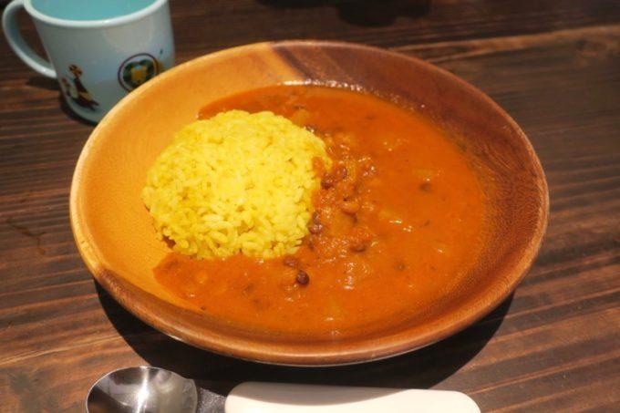 沖縄市・パルミラ通り「スパイスカレーパルミラ(SPICECURRY PALMYRA)」キッズカレー(450円)は豆のカレーで辛さなしだった。