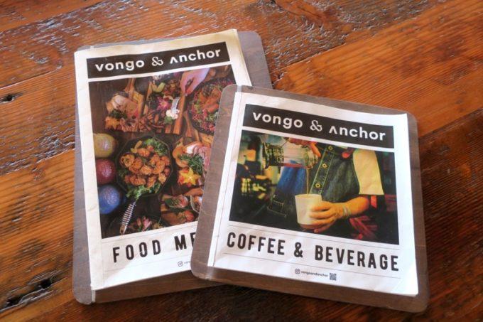 北谷「VONGO & ANCHOR(ボンゴ・アンド・アンカー)」のメニュー表