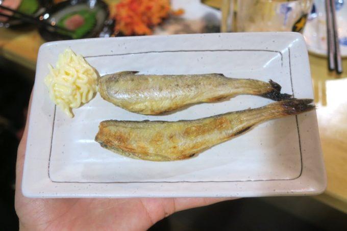 那覇・牧志「酔処 玉川(よいしょ たまりば)」氷下魚(こまい、200円)
