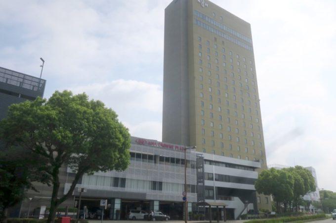 熊本のシティホテル「ANAクラウンプラザホテル熊本ニュースカイ」の外観