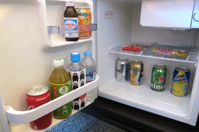 熊本「ANAクラウンプラザホテル熊本ニュースカイ」の冷蔵庫。