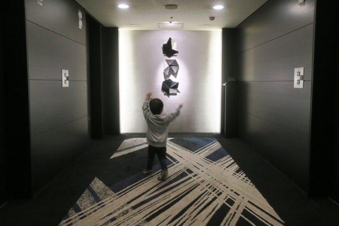 熊本「ANAクラウンプラザホテル熊本ニュースカイ」のエレベーターホール