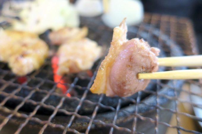 宮崎・都城「ふれあいの里 梅北本店」皮と肉の食感がたまらん地鶏炭火焼き。